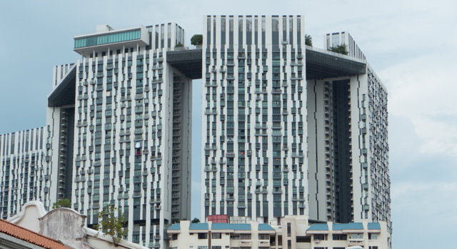 With minor excpetions, Singapore's public housing is  beautiful.