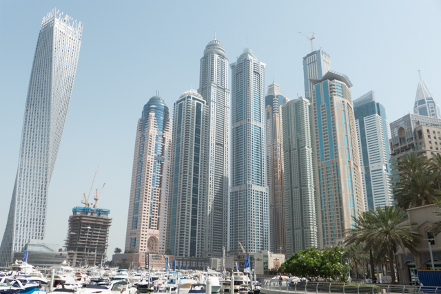 Dubai's marina district from another angle.