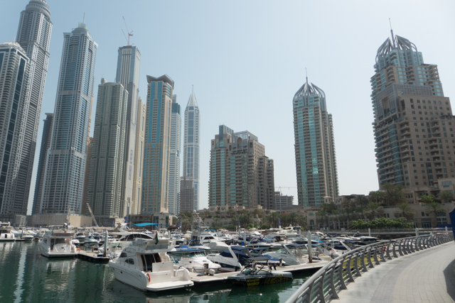 Dubai's marina district from another angle still.
