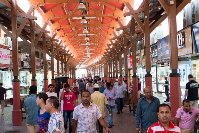 A view down the passageway of the gold souk.