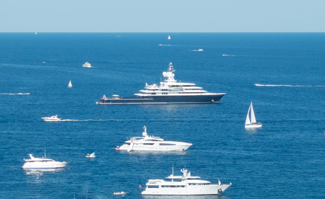 The bay at Saint-Jean-Cap-Ferrat included a wide mix of boats - from small put-puts to large yachts.  As an aside, Cap Ferrat was named in 2012 as the second most expensive residential location in the world after Monaco.