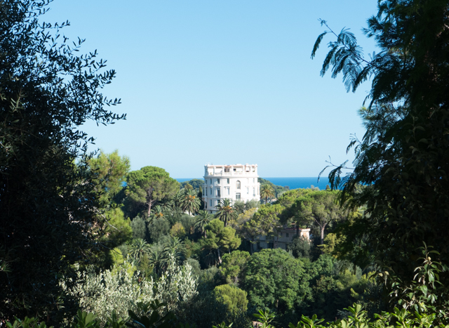 A view of another villa from the one of the Rothschild Gardens.