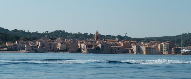 Saint-Tropez from the ferry as we were leaving.