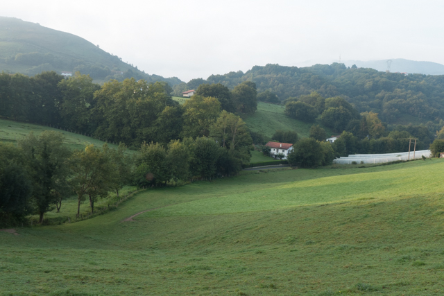 After leaving Hendaye, we quickly moved into the lush valleys of the Pyrenees.