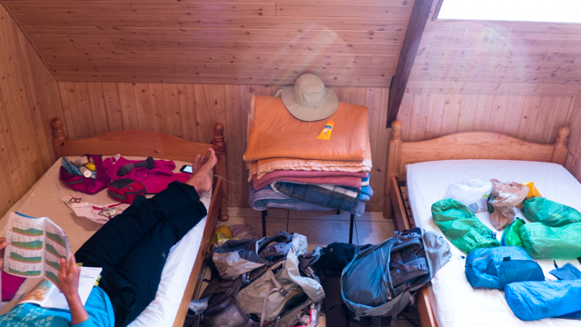 Not our best accomodations....
