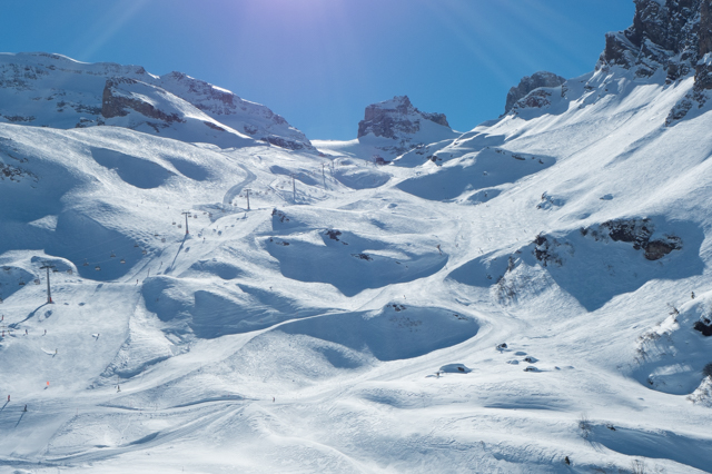 Engelberg ski runs at the top.
