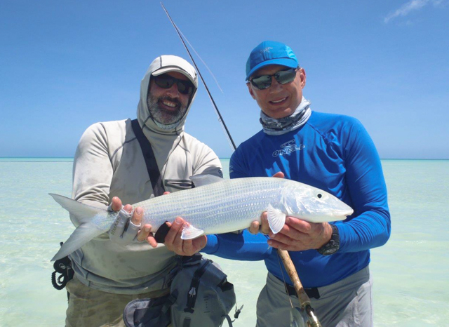Mark caught a nice bonefish with guidance from TC Calitri, a man of many talents including providing world-class guiding.