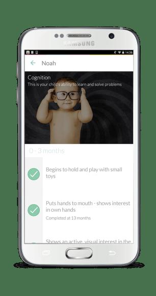 Android Milestone view