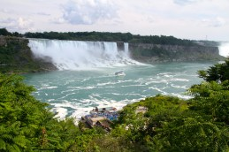 American Falls and the Maid of the Mist.