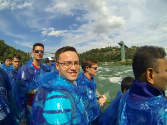 Getting ready to get wet.