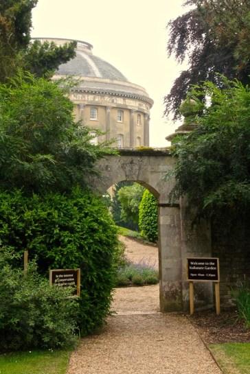 Archway through to the Italianate garden.