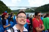 Glen getting in the way of my photo of the bridge.