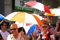Pride umbrellas.