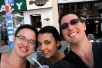 Glen, Lauren and me at Taste of the Danforth.
