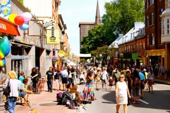 Street festival for Arc-en-ciel