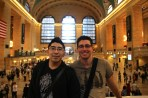 Albert and me in Grand Central Terminal.