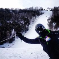 Glen ski photobombing