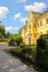 Outside Hellbrunn Palace