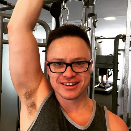 Glen in the gym