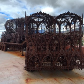 Metalwork carriage at MONA