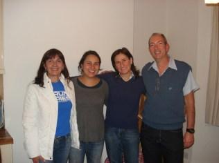 Vânia, Monica, Lúcia e Carlos