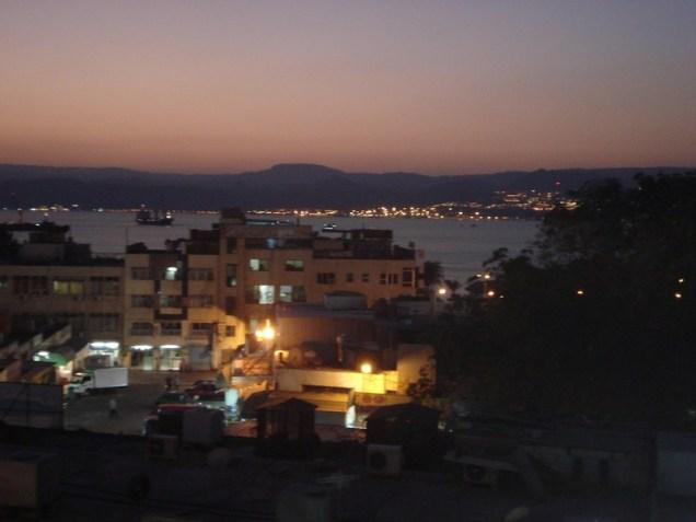 Vista do hotel. Última noite em Aqaba