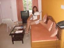 Sala da nossa mansão em Benaulim