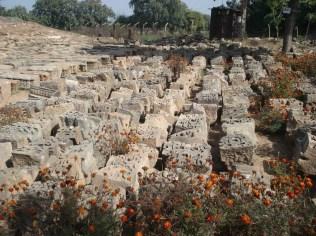Templo Bija Mandal em excavação e restauração