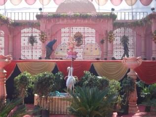 Foto de onde sentarão os noivos durante a cerimônia.