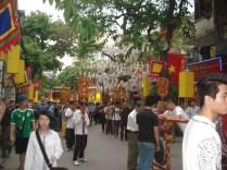 Desfile do templo chinês