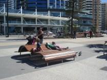 As cadeiras na praia. Olha que luxo