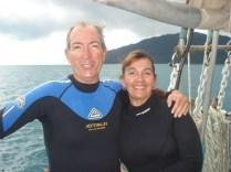 Nós dois prontos para o segundo snorkel