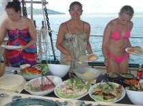 Nosso almoço no veleiro