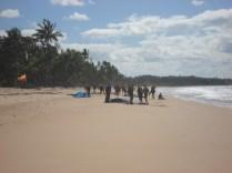 Chegada na praia