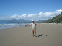 Outra praia e mesma pose