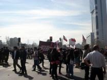 Estudantes em manifestação