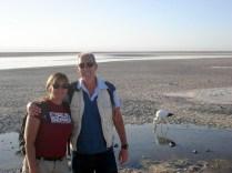 Essa é a Laguna Chaxa: água, sal e flamingos