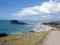 Vista do mar perto do Mount Manganui