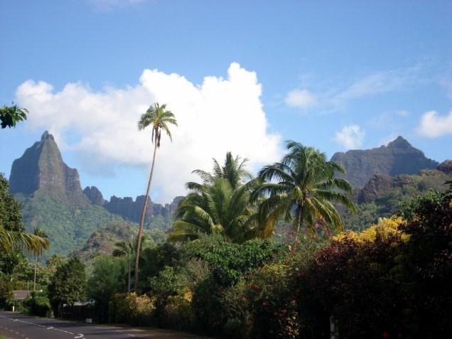 Voltando de bicicleta até o hotel e vendo essa paisagem