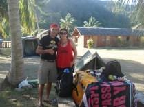 Caroline e Gonza os moradores da Ilha de Páscoa que nos ajudaram
