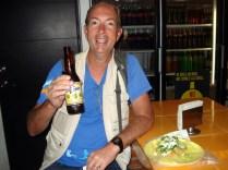 Quesadillas com cerveja