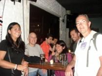 Reunião do CS. Alejandra e Carlos na frente