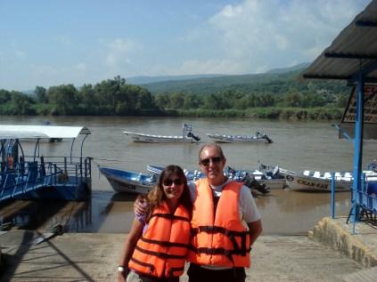 Prontos para a aventura no rio Grijalva