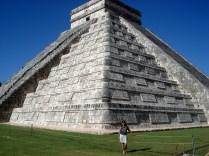 Pirâmide de Kukulcan ou El Castilho, sem dúvida o monument que mais impressiona