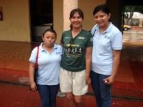 E as duas estudantes de turismo que eu conhecia na van da volta