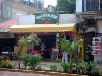 Guacamole Grill onde almoçamos super bem e ficamos presos por uma chuva de verão