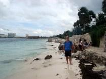 Conseguimos entrar em uma praia