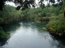 Vistas do cenote Jardin del Eden
