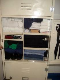 Armário das roupas e coisas pessoais