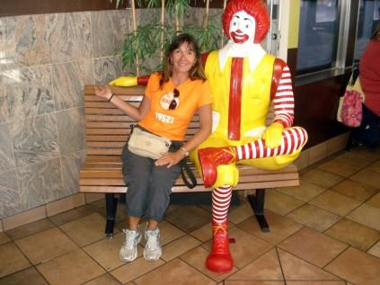 Pude até sentar com o Ronald